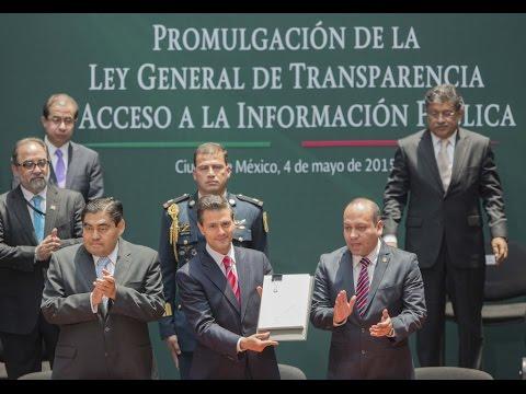 EPN promulga Ley de Transparencia