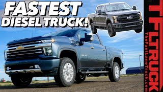 New 2020 Chevy HD Diesel Impresses with Speed, But Is It Enough to Beat the F-250? by The Fast Lane Truck