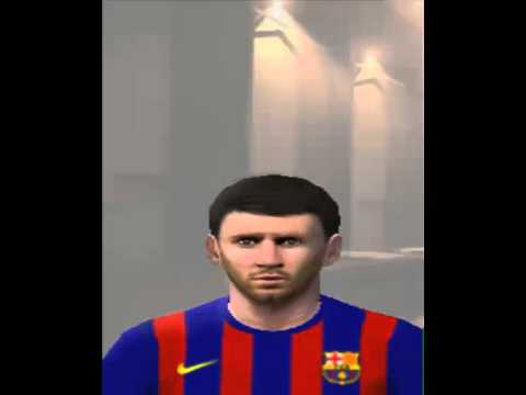 PES2014 PS2 PATCH V 05 BETA Messi Face & Hair & Barca Kit Home 2014