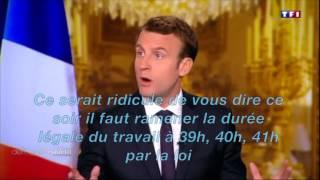Video Macron a-t-il changé d'avis sur les 35h ? MP3, 3GP, MP4, WEBM, AVI, FLV Oktober 2017