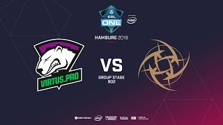 Virtus.pro vs NIP, ESL  One Hamburg, bo2, game 1 [Lex & 4ce]