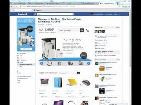 Facebook eCommerce Shop – Presentation, Install, Configurate, Application Step 2