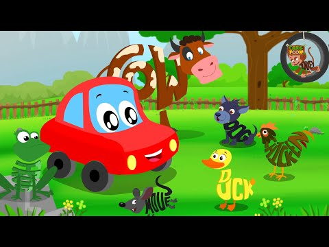 Animals Sound Song | Car Rhymes | Kids Video