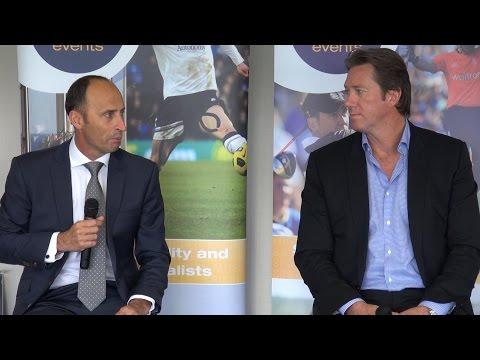 England vs Australia at Edgbaston with Nasser Hussain and Glenn McGrath