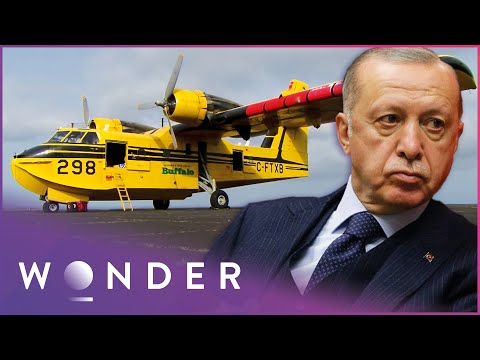 Canadian Airline Delivers Turkey's First Water Bombers | Ice Pilots NWT | Wonder