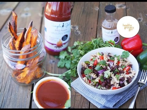 Gluten-Free Veggie Pasta And Sweet Potato Fries | Healthy Recipes | Healthy Grocery Girl