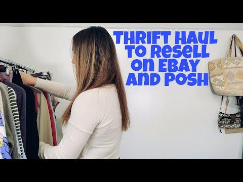 Thrift Haul to Sell on Ebay and Poshmark | Fall BOLOs видео
