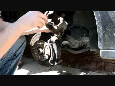 change brakes - For most newer cars (1990+), and especially imports, the calipers will look like this and the procedure is the same. So even if this is a 1992 Honda Accord, ...