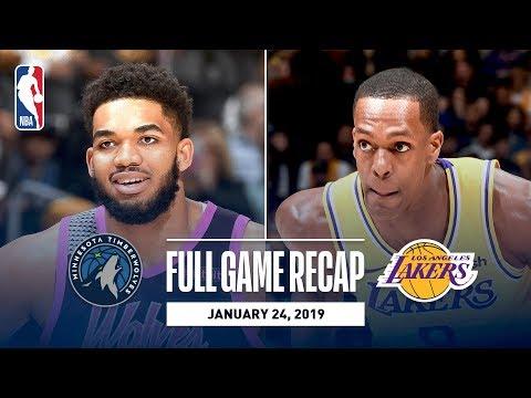 Video: Full Game Recap: Timberwolves vs. Lakers | Rajon Rondo Returns For LAL