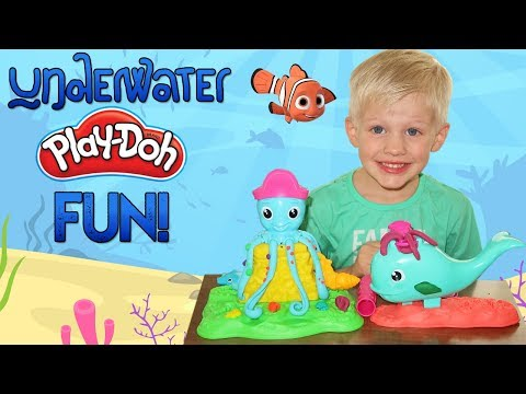 Play doh - Underwater Play-Doh Creations with Cranky Octopus and Wavy Whale