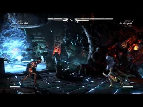 MKX: HoneyBee (Swarm Queen D'Vorah) vs Starcharger (Assassin Kitana) (видео)