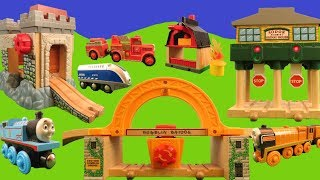 Thomas the Tank Engine Wooden Railway Brio Trains for Kids Fire Engine Thomas and his Friends