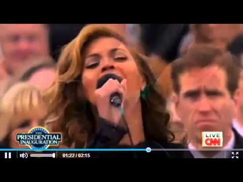 Beyonce Singing National Anthem at President Barack Obama