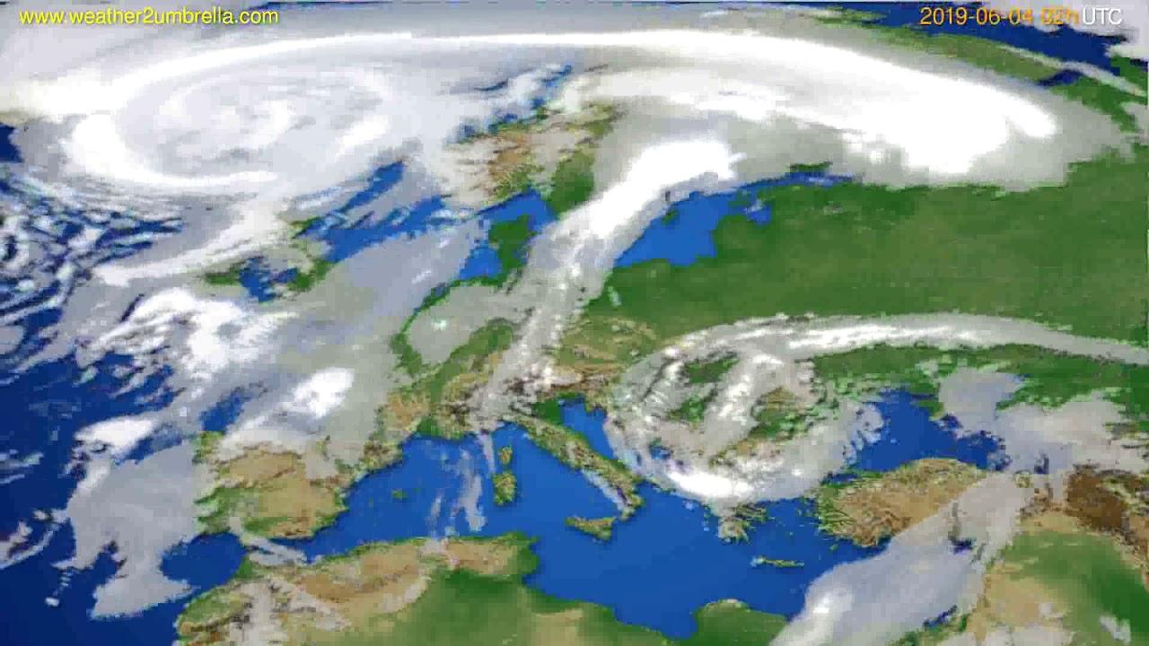 Cloud forecast Europe // modelrun: 00h UTC 2019-06-02