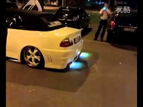 Custom Modified Car blowing Fire From exhaust pipe