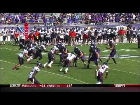 LaDarius Brown 17-yard touchdown catch vs Virginia 2012 video.