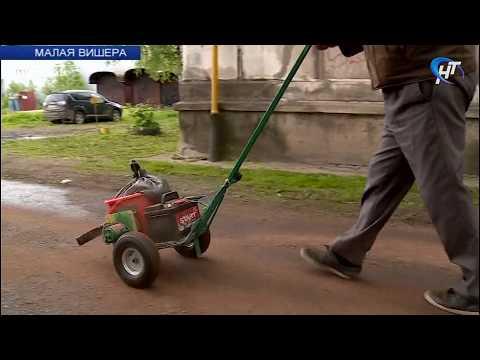 Житель Малой Вишеры разработал простое устройство для посыпки песком дорожек в зимой