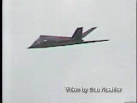 117 - F117 stealth jet fighter crash on September 14 1997 in Essex, Maryland at air show.Listen to the crowds reaction and what the announcer says to try to keep t...