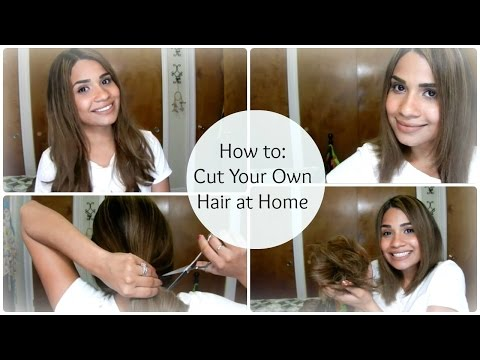 How To Cut Your Own Hair At Home A Line Bob Bybelle4u Action