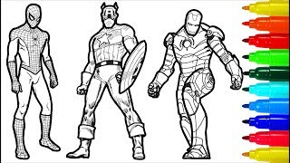 Video Spiderman Iron Man Captain America Wolverine Superman Coloring Pages | Superheros Coloring Pages MP3, 3GP, MP4, WEBM, AVI, FLV Juni 2019