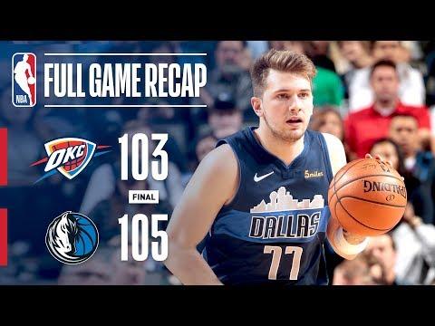 Video: Full Game Recap: Thunder vs Mavericks | Late Run Wins It For Mavs