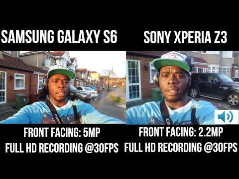 how to on front camera in sony xperia