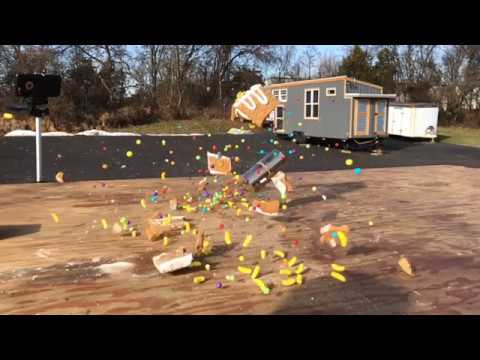 Big Magnets Smash Gingerbread Houses in Slow Motion!