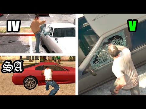 Evolution Of Stealing A Parked Car Gta Games 1997-2019 (carjacking)