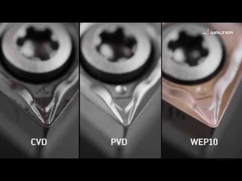 CERMET DREH-WENDESCHNEIDPLATTEN – WEP10. Doppelte Standzeiten