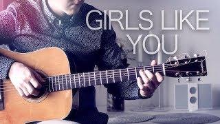 Video Maroon 5 - Girls Like You - Fingerstyle Guitar Cover MP3, 3GP, MP4, WEBM, AVI, FLV Agustus 2018