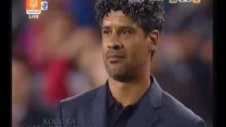 Trainer Frank Rijkaard weint nach seinem letzten Spiel für den FC Barcelona