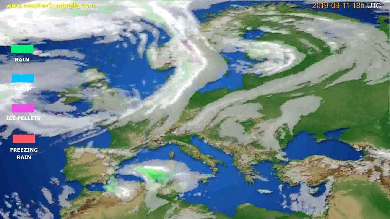 Precipitation forecast Europe // modelrun: 12h UTC 2019-09-09