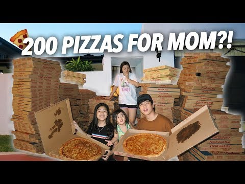 Download Video 200 Boxes Of Pizzas For Mom?! (She Freaked Out) | Ranz And Niana