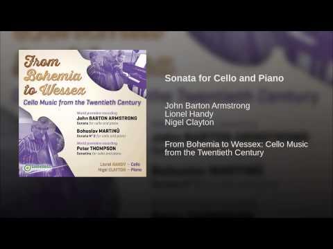 John Barton Armstrong, Sonata for Cello