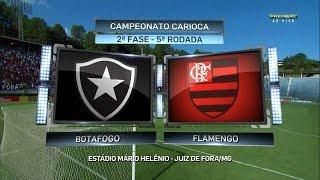 Jogo completo Botafogo 2 x 2 Flamengo - 5ª Rodada Taça Guanabara 2016 - 02/04/2016 Estádio: Municipal de Juiz de...