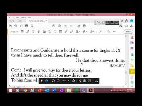Hamlet Act IV Scene VI-VII (Part One)
