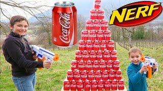 Video NERF COCA COLA CHALLENGE - Swan VS Néo - Tirer sur une Pyramide Géante de Canettes ! MP3, 3GP, MP4, WEBM, AVI, FLV Mei 2017