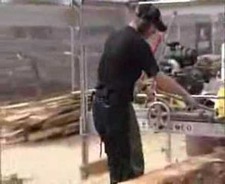 Portable Sawmill in Action - Winch Production Frame (WPF)