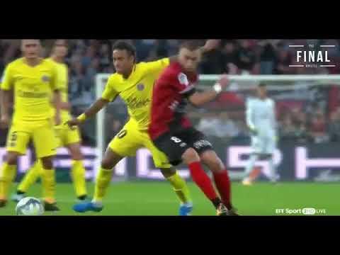 Debuut neymar jr guingamp psg 0-3 all goals en highlights