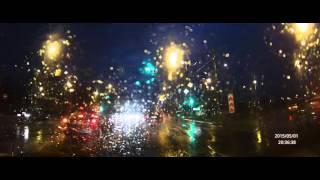 Китайский видеорегистратор G95A - съёмка 2K, вечер, дождь