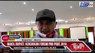 Wakil Bupati Kukuhkan Forum PRB Pidie Jaya