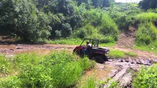 9. Polaris ranger 570 full size mudding.