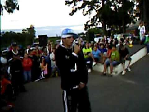 MC Da-Break na battle de b.boys LJB CREW em Salto do Jacuí-RS