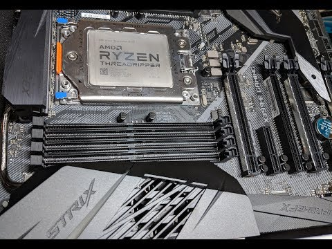 Threadripper Lotes Socket Install on ASUS ROG Strix X399 E Gaming