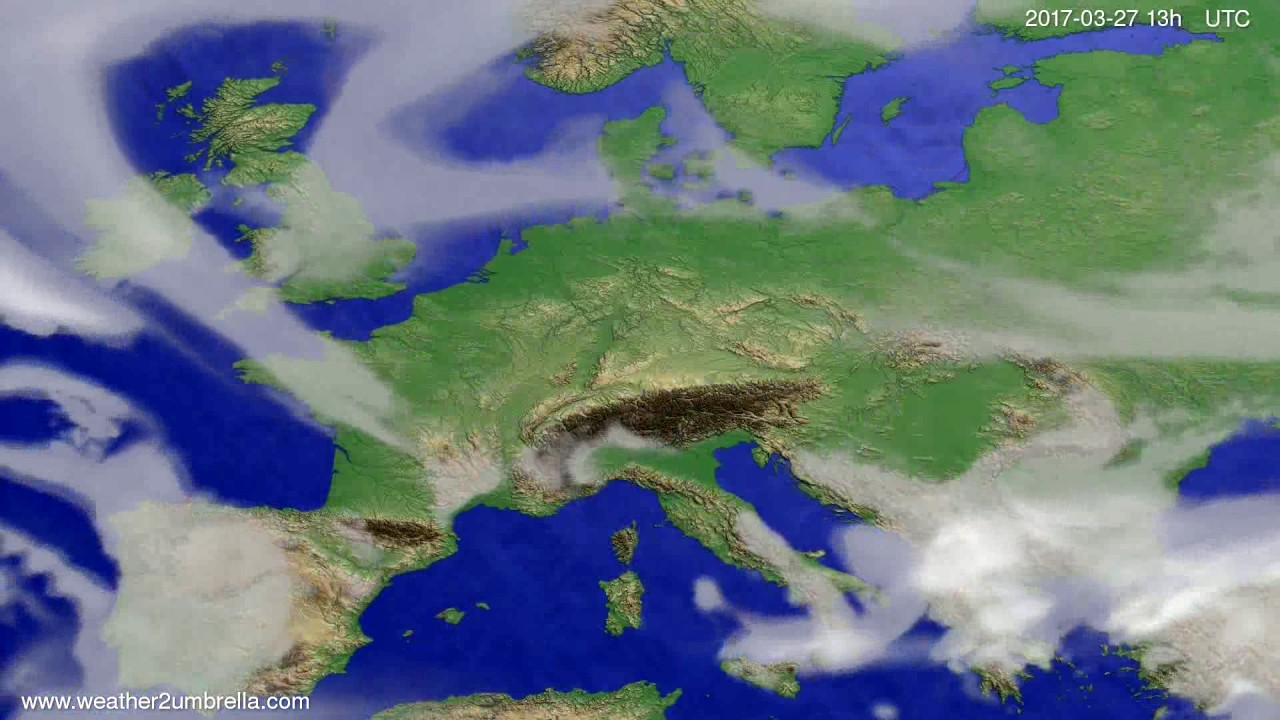 Cloud forecast Europe 2017-03-24