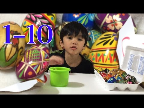 Learn to count 1-10 using Pysanki easter eggs
