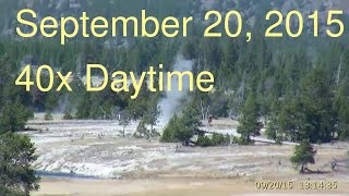 September 20, 2015 Upper Geyser Basin Daytime Streaming Camera Captures