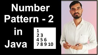 Number Pattern - 2 Program (Logic) in Java by Deepak