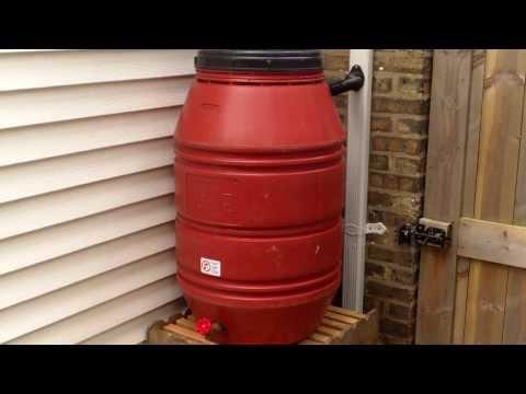 Rain Barrel Conversion Using EarthMinded DIY Rain Barrel Diverter & Parts Kit
