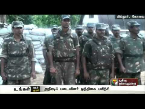 Anti-naxal-forces-security-rehersal-at-Tamilnadu--Kerala-border